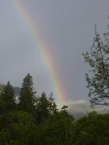 Morning rainbow over Saltmarsh Ranch