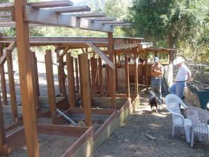 Building lambing jugs in 2007