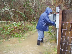 And Steve shouldn't be mid-calf deep in water as he turns off the pump electricity for safety